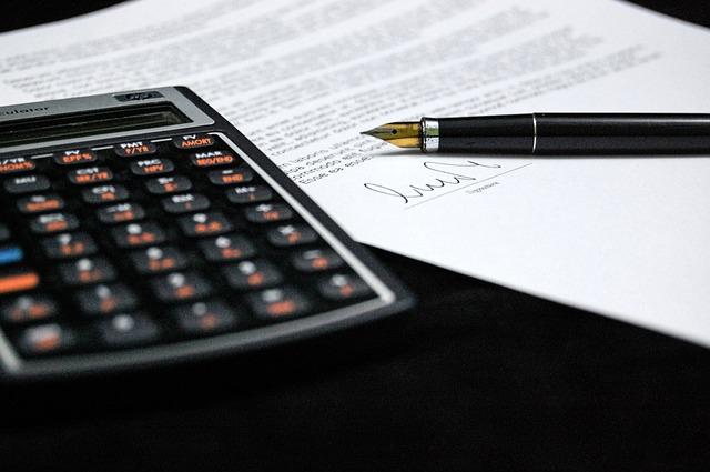 kalkulačka a dokument