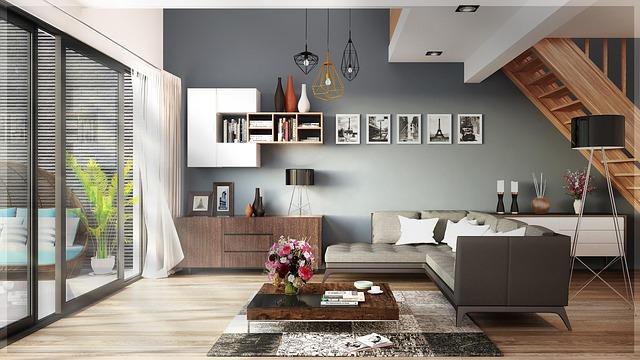 Bytový design v šedém stylu